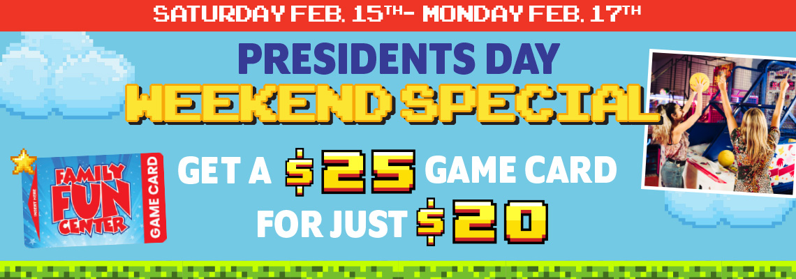 FFC Presidents Day Weekend 2020 HP Banner